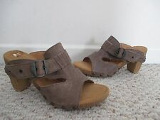 GABOR TAUPE / GRAY OPEN TOE  SLIDE SHOES SIZE 37