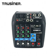 Mini USB Audio Mixer amplifier Bluetooth 48V Phantom Power 4 Channels Sound Card
