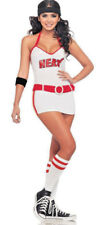 Womens Miami Heat Basketball Cheerleader NBA Sports Costume Size 8 - 10