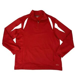 Greg Norman Golf Jacket Men's Size XL Red Play Dry 1/4 Zip Play Dry All Weather