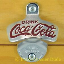 Coca Cola Coke Wall Mount Stationary Bottle Opener by TableCraft, BRAND NEW!!