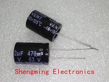 20pcs 470uF 63V 105°C Electrolytic Capacitor 13x21mm