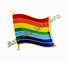 RAINBOW FLAG GAY PRIDE ENAMEL PIN BADGE LGBT