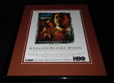 A Lesson Before Dying 1999 HBO Framed 11x14 ORIGINAL Vintage Advertisement