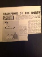 L1-8 Ephemera 1963 Article Doreen Pickerstock Weaverham Secondary School Sport