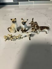 Nine Vintage Bone China Animals