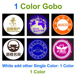 Customize LOGO Gobos Lens for Ad Projector Lights Store Shop Advertising Lamp
