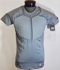 504d541e Nike Men's Pro Combat Hyperstrong Padded Football Shirt (Grey) Size XL/2XL/