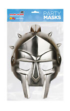 Gladiator Half Face Party Mask Card A4 Fancy Dress History Ladies Men Kids