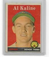 AL Kaline 1958 Topps Vintage Baseball Card # 70 Hall Of Fame Detroit Tigers HOF