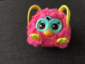 "Furby Mini Pink Interactive Boom Baby 4"" Yellow Ears Lenticular Eyes Hasbro 2012"