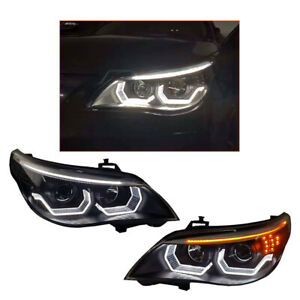 Headlight Assembly For BMW 5 Series E60 04-07 HID Projector LED DRL Replace OEM