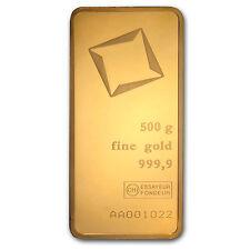 500 gram Gold Bar - Valcambi (Pressed w/Assay) - SKU #85004