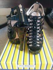 Women's Nektaria (Black Patent) Zoe Wittner stiletto heel shoes size 8