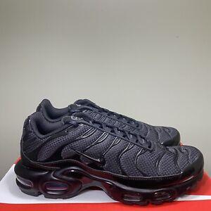 NEW Nike Air Max Plus Triple Black Tn 604133-050 Men's Running Shoes Size 12