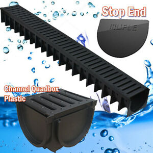 Drainage Channel 1m Plastic, Corners, Outlet Channel Quadbox & Stopend.