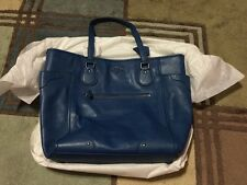 NWT COACH Blue Denim F34039 Leather Mickie Tote Handbag With Gift Box