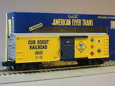 LIONEL AMERICAN FLYER CUB SCOUT BOXCAR S Gauge AF 2 rail train boy scout 6-48835