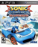 Sonic & All-Stars Racing Transformed Playstation 3 Ps3 Kids The Hedgehog Game