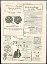 1887 - ADVERTISING PEARS SOAP ADAMS FURNITURE POLISH THURSTONS CUES  (38)
