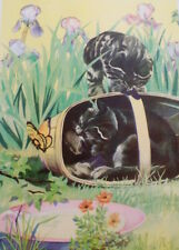Vintage Kittens Cats Tabby Print 1939 Children's Book Illustration Victor Becker