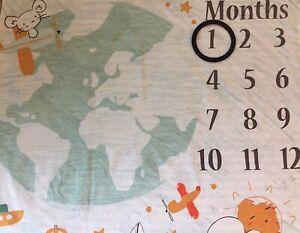 Adventure Awaits Baby Milestone Blanket/Mat With Milestone Marker