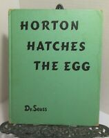 DR SEUSS Horton Hatches The Egg 1940 Early Printing HB Vintage Childrens Classic