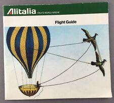 ALITALIA VINTAGE FLIGHT GUIDE GREAT CABIN & FLEET PICS 1975 AZ