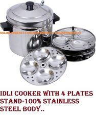 16 pcs idli cooker 4x4 plates stand/Stainless Steel steamer idli maker cookware
