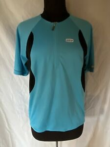 LG Louis Garneau Leisure Cycling Bike Jersey Aqua Blue w/black Men's Large