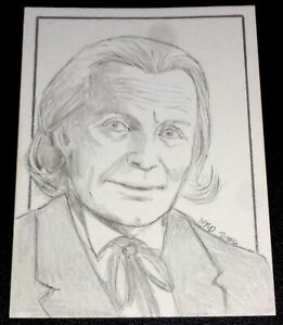 ACEO Sketch Card by Evan R. Driscoll Doctor Who - 1st Television Doctor