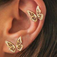 Fashion Chic Butterfly Wings Stud Earrings Elegant Women Wedding Jewellery Gift