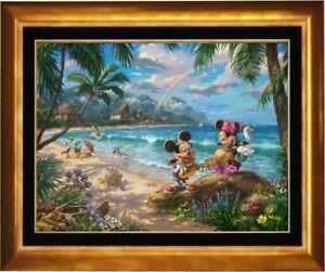 Thomas Kinkade ~ Mickey and Minnie in Hawaii ~ 18x24 Gallery Proof (G/P) Canvas