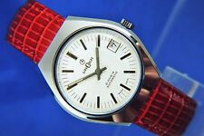 Gents Retro NOS Vintage Lincoln Automatic Watch Circa 1970s Swiss Cal MSR P26
