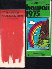 HAWAII BROCHURE VINTAGE RETRO VOLCANOES NATIONAL PARKS TOURIST 1975 AIRLINES