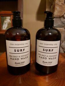LOT OF 2 ROOM 1019 SURF SEA SALT & COCONUT HAND WASH 16 OZ EACH! NEW!