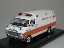 Dodge Horton High Tetto Ambulanza Emergency Squad USA 1973 Bianco 1/43 Neo