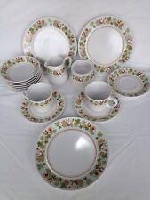 NORITAKE 17pc Progression China Homecoming 2 Cups, 3 Saucers, 7 Dessert 3 Plates