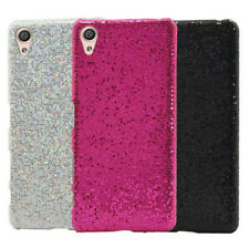 Per Sony Xperia X Performance Bling X Sparkle poliuretano rivestito in tessuto HARD CASE COVER