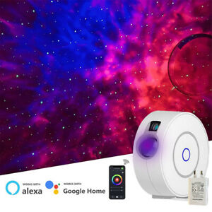 Smart Wifi Galaxy Star Projector LED Starry Party Light 3D Aurora USB Adapter