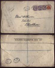 1894 LANCASTER, REGISTERED envelope On Her Majesty's Service to Blackburn