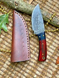 MH KNIVES CUSTOM HANDMADE DAMASCUS STEEL FULL TANG HUNTING/SKINNER KNIFE MH-317T