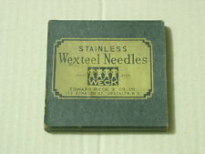 WEXTEEL VINTAGE HYPODERMIC STAINLESS NEEDLES SHORT BEVEL 19 - 1 1/2