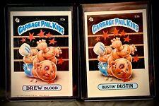 1986 GPK - Drew Blood & Bustin Dustin - Garbage Pail Kids #93A & #93B 3rd Series