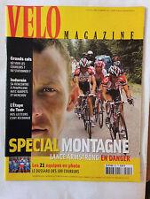 VELO MAGAZINE N°421 JUILL 2005 TOUR DE FRANCE / SPECIAL MONTAGNE / ARMSTRONG