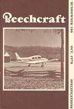 Aircraft Brochure - Beechcraft - Sundowner 180 - 1978 - 2 items - N2236L (B572)