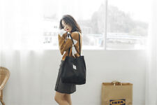 Women Heavy Duty Classic Retro Corduroy magnetic button Shoulder Canvas Tote Bag