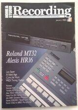 HOME & STUDIO RECORDING magazine January 1988 collectable