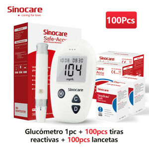 Accu 10/100Pcs Kit Medidor de glucosa en sangre para prueba de azúcar diabética