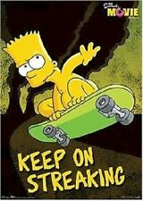 2007 THE SIMPSONS MOVIE BART KEEP ON STREAKING POSTER 22X34 NEW FAST FREE SHIP
